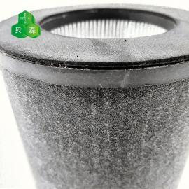 贝森空气净化器高效HEPA过滤筒BS365