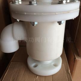 唐功生产储罐PP材质呼吸 单吸 单呼 带呼出接管塑料防腐呼吸阀TGWX1-PP
