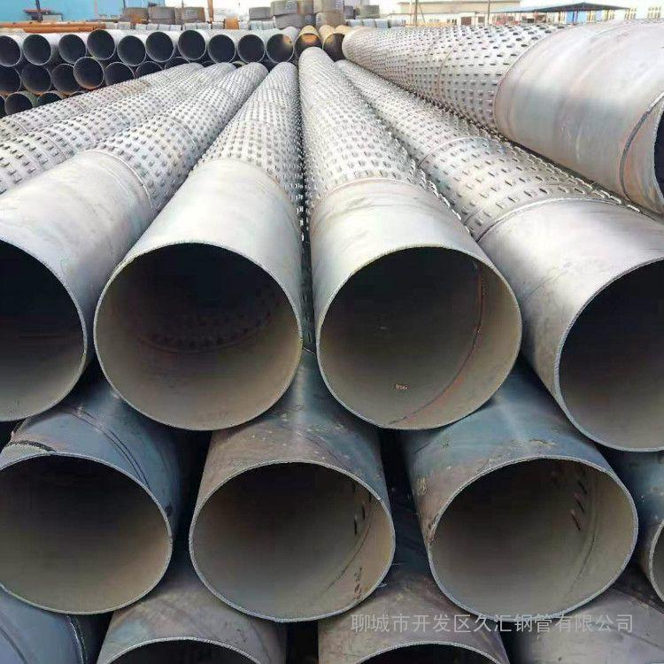 深井滤水管螺旋降水井滤水管350、450直径的镀锌滤管随时提供