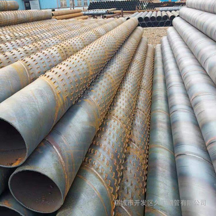 325*5井壁管600*5打井钢管 500滤水管377铁井管