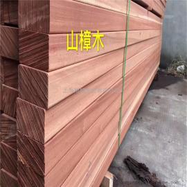 旭棕加工厂全红山樟木大量到货原木板材