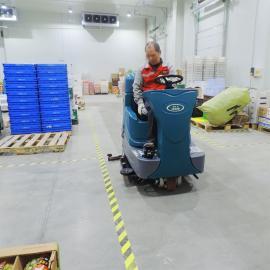 洁乐美大型驾驶式全自动洗地机机场客运站用双刷洗地机YSD-A10
