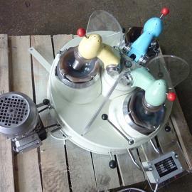 国邦XPM-Φ120×3实验室玛瑙三头研磨机 转轴式磨粉机 小型矿石制样机