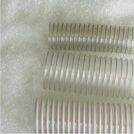 龙威PU钢丝伸缩管聚氨酯通风管 工业吸尘管 抽粉尘水泥厂除尘管25*9 90*12.5