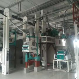 泰兴磨石磨粉的中小型机器,电动石磨磨面机组齐全