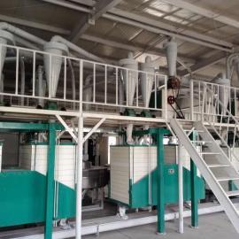 泰兴石磨面粉成套加工设备,四组磨小麦粉设备,石磨磨面粉机器齐全