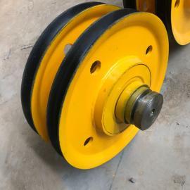 亚重20T吊钩天车滑轮组 起重机提升设备用 钢丝绳轧制滑轮