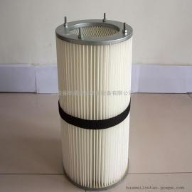 华威粉尘除尘滤筒 现货 除尘滤芯聚酯纤维无纺布滤芯