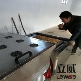 立威隧道式五谷杂粮烘焙机设备/微波烘焙设备加工厂40kw