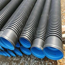 洛润HDPE波纹管 地埋管 PE排污管 双壁波纹管排污用DN200