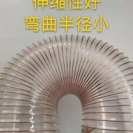 LONGWEI龙威软管公司 透明钢丝伸缩管 通风吸尘管 pu管多种型号 可定制