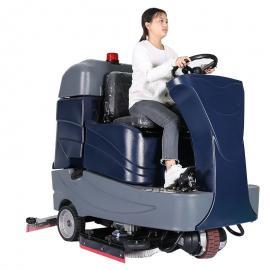 德克威诺地下车库工厂车间机械厂商场购物广场清洗地面用驾驶式拖地机GRL860