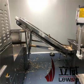 立威隧道式小麦胚芽微波烘焙机设备产量30kw