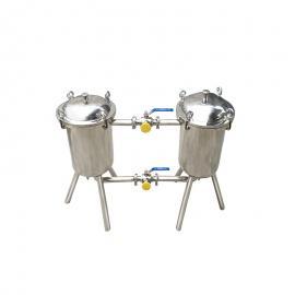 富瑞康双联过滤器饮料过滤设备双桶式过滤袋式过滤机双联切换过滤桶SL