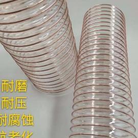 龙威(LONGWEI)PU管 聚氨酯镀铜钢丝管 透明无味管 吸尘伸缩软管可定制