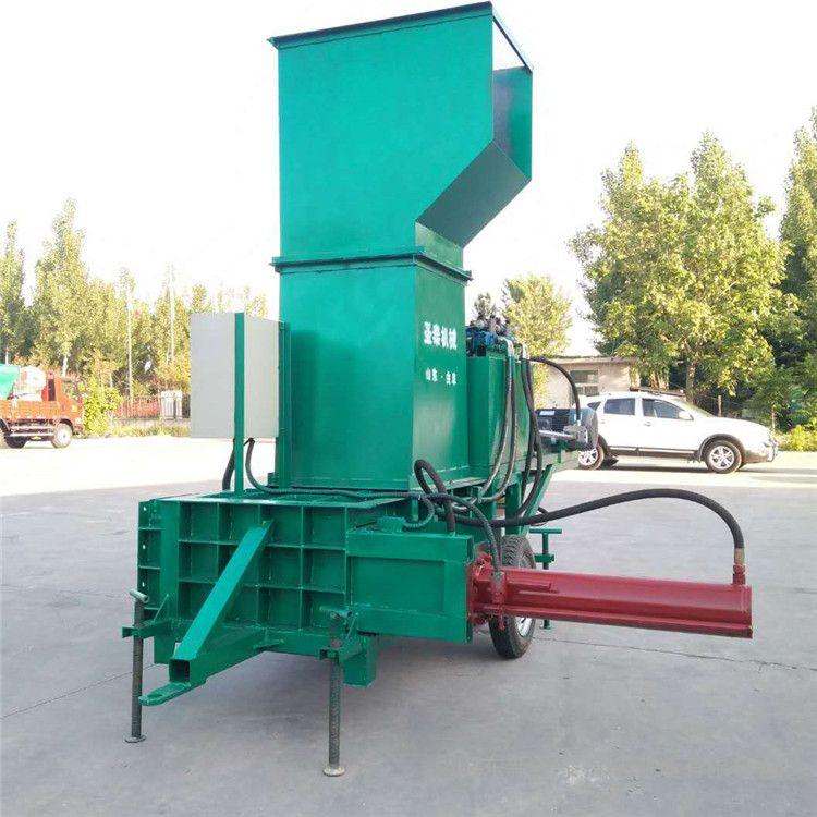 圣泰玉米秸秆压块机图片 青贮饲料全自动压包机 机器性能 9YF-5A