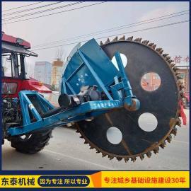 鼎峰机械拖拉机带水泥路圆盘开沟机hy-544