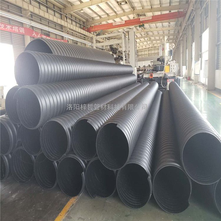 hdpe增强螺旋波纹管 钢带增强排污管