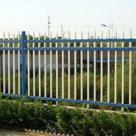 工厂外围墙钢管围栏 蓝白色小区围墙铁栅栏 1.8米锌钢护栏恺嵘