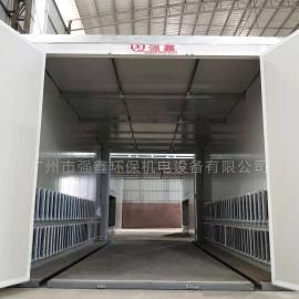 强鑫3米塑粉回收机 喷粉回收房 高温塑粉固化房QX
