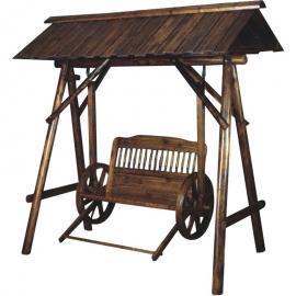 匠艺古建户外防腐 景区游园 凳子 垃圾桶千秋椅