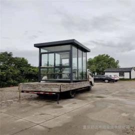 银东公园铝塑板岗亭价格yd035