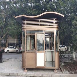 银东公园氟碳喷漆岗亭厂家直销yd035