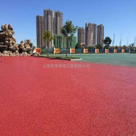 真石丽多孔水泥混凝土 排水路面彩色地坪