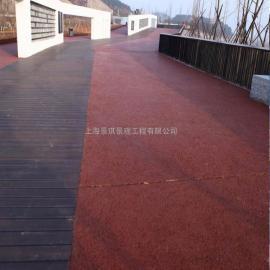 真石丽彩色混凝土透水地坪各种路面颜色可供选择