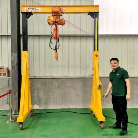定做无轨电动龙门吊 2.8吨电动龙门架起重机MH