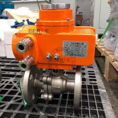 BERREBR-10防爆型精小型阀门电动执行器配硬密封球阀