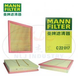 MANN-FILTER曼牌滤清器空滤 空气滤芯C22017