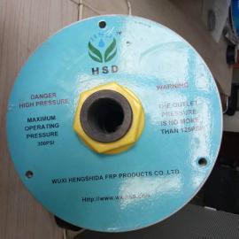 HSD反渗透净水设备玻璃钢膜壳端盖8040