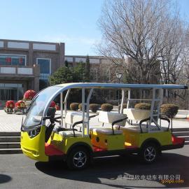 绿欣电动观光车 十一人座电瓶游览车 景区游览车 电动游览车LX-S8+3