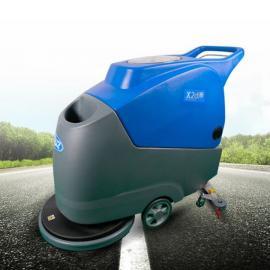 威卓商场超市地面清洁用洗地机 静音型手推式洗地机X2d