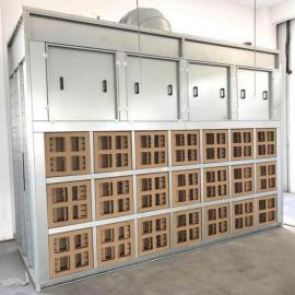 迷宫纸盒干式喷漆柜干式喷漆室 无废水排放 环保干式喷漆房