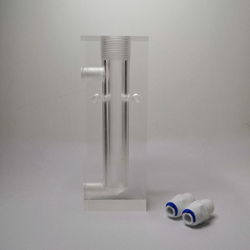 环科仪在线电极安装架水质监测传感器流通槽水流恒流调节池流通杯D1