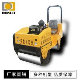 D-1.0T双钢轮小型压路机 驾驶式振动轧道机沟槽回填土