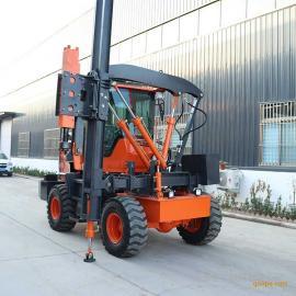 岳工机械护栏高速公路波形钻孔打拔一体装载式建筑工程打桩机YG-936