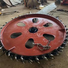 丰雷益大型开沟机 拖拉机带动挖沟机 定制圆盘链条