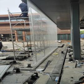 水云间景观拉线水帘,悬垂吊线导流水线帘喷泉施工制作定制