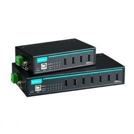MOXA摩莎UPort 407-T7 端口工�I� USB 集�器