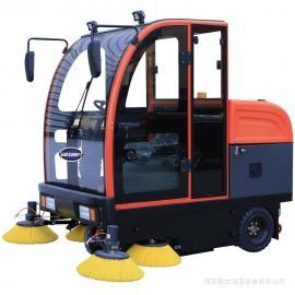 捷恩GEXEEN品牌 强力吸尘双电机电动扫地车 大量灰尘粉尘粉末全封闭电瓶清扫车 GS/E200