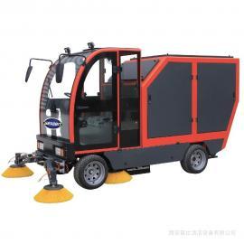 GEXEEN捷恩品牌 四轮全封闭电动清扫车 240升标准垃圾桶垃圾落叶树叶电瓶扫地车 GS/E240