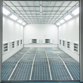 强鑫钣喷中心环保喷烤漆房UV光氧催化环保喷漆室阻燃板烤漆房QX1000A