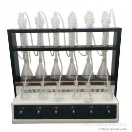 ?;芬瞧靼胱远�全自动多功能蒸馏仪氨�?、挥发酚、氰化物等测定前的样品SH-1000