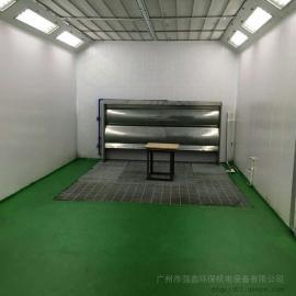 强鑫环保水帘喷漆房标准尺寸工业水式喷漆室小型机械五金家具喷油房QX
