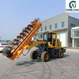 安捷AJ-ZDX铲车式电线杆挖坑机