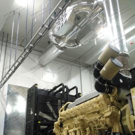 绿联净化尾气干式净化器 柴油发电机组尾气黑烟治理 黑烟干式设备黑烟治理设备