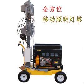 翰丝柴汽油发电机应急照明装置 夜间野外应急移动照明车GLT-5KW